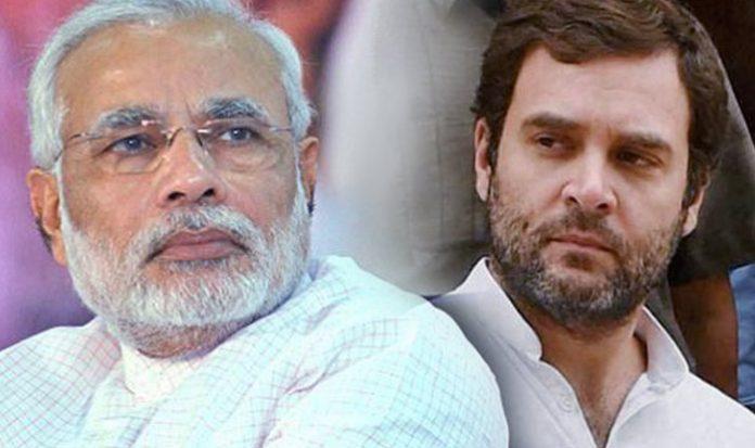 नरेंद्र मोदी के निशाने पर राहुल गांदी
