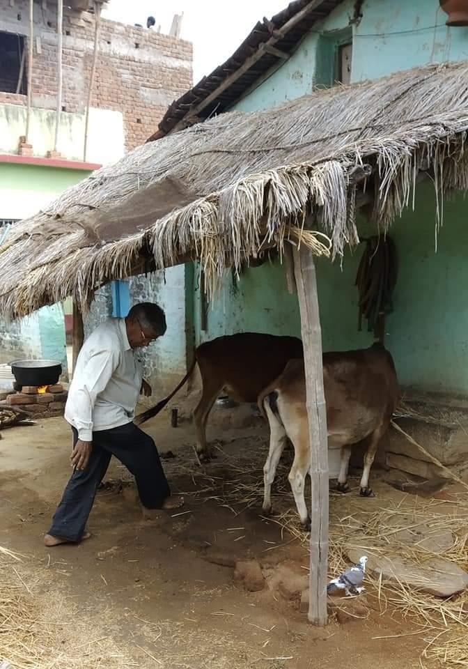 गांव का एक दृश्यः तसवीर बाबूलाल जी