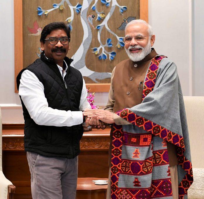 दिल्ली में झारखंड के सीएम हेमंत सोरेन ने पीएम नरेंद्र मोदी से मुलाकात की