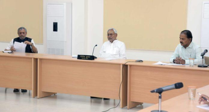 मुख्यमंत्री नीतीश कुमार ने कोरोना संक्रमण से बचाव को लेकर किए जा रहे कार्यों की अद्यतन स्थिति एवं लॉकडाउन में रोजगार सृजन को लेकर कार्यों समीक्षा की।